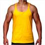 Camisetas Regata Lisa Academia Musculação Tank Super Cavada