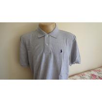 Camisa Polo By Ralph Lauren Cinza Cavalo Azul Tam Ggg . Gg