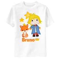 Camiseta Personalizada Pequeno Príncipe - Príncipe E Raposa