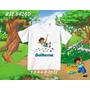 Camiseta Dora Aventureira Diego Go Botas Raposo - Infantil