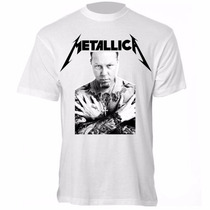 Camiseta James Hetfield - Camisa Metallica, Banda, Rock
