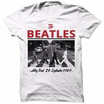 Camisa Camiseta Beatles Rock Retro Moda Masculina Lançamento