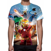 Camisa, Camiseta Game Lego Marvel Super Heróis