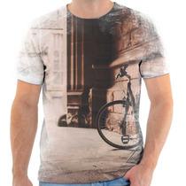 Camiseta - Camisa Estampa Vintage Bike 2016 Moda Masculina