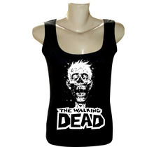 Camiseta Regata Feminina Séries Bandas The Walking Dead