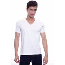 Camiseta Básica Decote V Branca