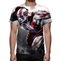 Camisa, Camiseta God Of War Kratos 04 - Estampa Total