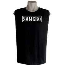 Camiseta Regata Machão Sons Of Anarchy Bandas De Rock Séries