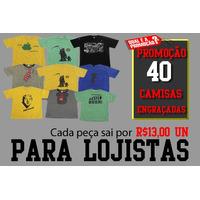 Kit De Camisetas Engraçadas C/ Estampas Variadas Em Atacado