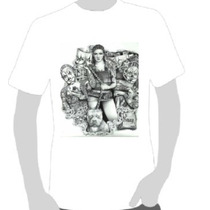 Camisetas Art Chicana - Clown Girl Pit Bull Tatoo -