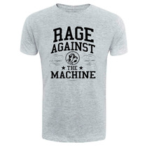 Camiseta Rage Against The Machine - Cinza - Rock Hardcore
