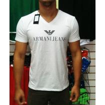 Camiseta Masculina Armani Jeans Branca,styletenis