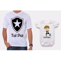 Kit Camisetas Tal Pai, Tal Filho Com Body Time