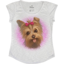 Camiseta - Tshirt Feminina Cachorrinho Chanel - Rockz Club
