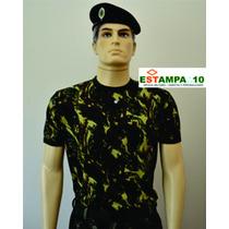 Camiseta Camuflada Padrão Exército Brasileiro