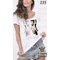 Camiseta T-shirt Winiehouse Fashion Feminino Blusa Baby Look