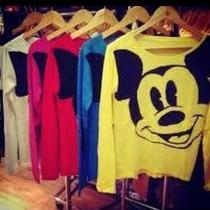 Kit Com 5 Blusas De Frio Feminina Personagem Mickey Lã Trico
