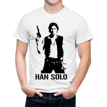 Camiseta Star Wars Han Solo Aliança Rebelde Guerra Estrelas