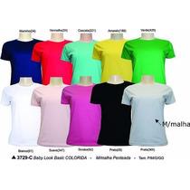 Camisa Baby Look Básica Diversas Cores Promoção