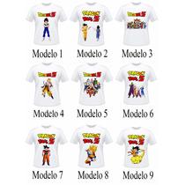 Camisa Camiseta Dragon Ball Z Adulto E Infantil Goku Vegeta