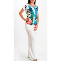 Blusa Tunica Floral Estampa Exclusiva - Loja De Fábrica