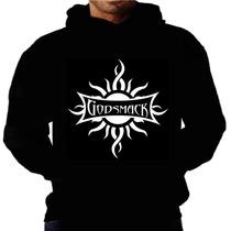 Blusa Moletom Godsmack Capuz Bolso Banda Camisa Rock Moleton