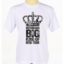 Camisa Camiseta Estampada Rapper Hip Hop The Notorious Big