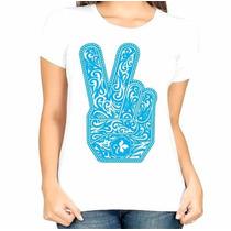 Camisa Estampa Feminina Paz E Amor