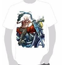Camisa Estampa Caveira Motorcycle Harley Hells Sons Moto