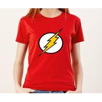 Camiseta Feminina Baby Look Flash 100% Algodão