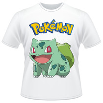 Camiseta Pokemon Bulbasaur Anime Desenho Camisa