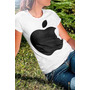 Camiseta Feminina Maça Apple Steve Jobs