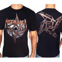 Camiseta De Banda - Metallica - Steel