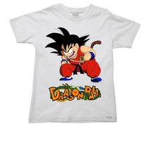 Camiseta Infantil Dragon Ball Bal Goku Esfera Bulma 01