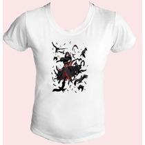 Camiseta Babylook Feminina Naruto Itachi Sharingan Uchiha