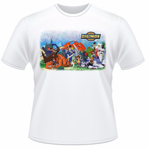 Camiseta Infantil Digimon Anime Desenho Camisa #02