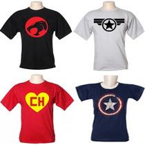 Camisetas Filmes Super Heróis Games Desenhos Engraçadas