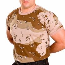 Camiseta Militar Masculina Camuflada Deserto - Loja Oficial