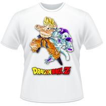 Camiseta Dragon Ball Z Goku Freeza Anime Desenho Camisa