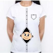 Camiseta Blusa Gestante Gravida Personalizamos Com Nome