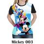 Camisa Camiseta Mickey Minie Disney Baby Look 003