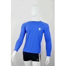 Camisa Com Proteção Solar Uv 50+ Poliamida. Manga Longa