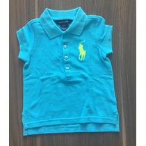 Camisa Polo Ralph Lauren Menina Infantil 2 Anos Azul