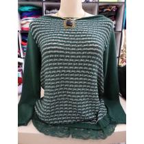 Blusa Biamar - Verde C/renda