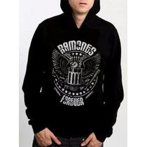 Casaco Blusa De Frio Moletom Punk Rock Ramones