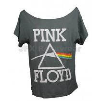 Camisa Feminina Gola Canoa Rock Banda Pink Floyd Dark Side