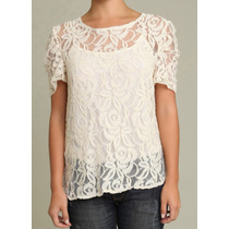 Blusa Transparente De Renda Chantilly - Sob Medida