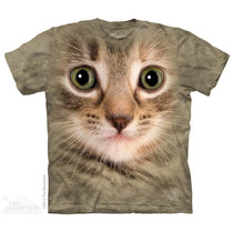 Camisa 3d Kitten Face The Mountain Original