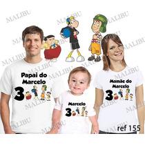 Camiseta Turma Do Chaves Personalizada Aniversário 3 Uni