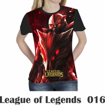 Camiseta Blusa Games League Of Legends Feminina Lol 016